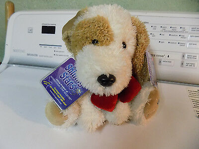 Russ Berrie Shining Stars VALENTINEs Day Puppy EYE PATCH DOG Plush NEW w tags  b