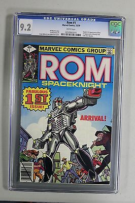 ROM SPACEKNIGHT #1 CGC 9.2 NM HIGH GRADE WHITE PAGES 1st APPEARANCE Dire Wraiths