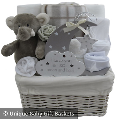 Baby gift basket/hamper unisex baby shower nappy cake new baby gift unique