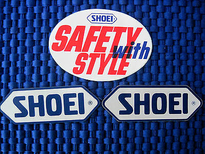 """Lot of 3 SHOEI Motorcycle """"Safety With Style"""" Decals-FAST SHIPPING!!"""