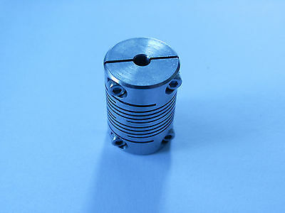 Huco flexible coupling 4mm x 5mm shaft clamp stainless steel