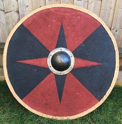 Authentic Hand Made Wooden Viking Shield - Full Strength Re-enactment Ready