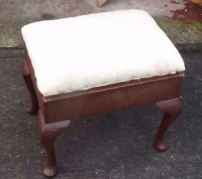 Mahogany piano stool