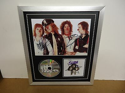 Slade Genuine Hand Signed/Autographed Photograph with CD/CD Cover & COA