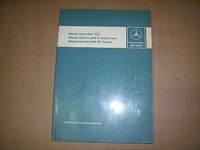 Mercedes Benz 1987 (300 D Turbo) & Model (300Td Td Turbo) Intro. Service Manual!