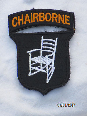 CHAIRBORNE, Funny Unit ID Morale Patch,Klett ,Abzeichen