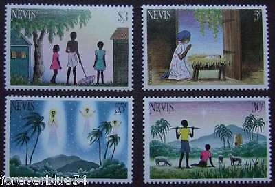 Nevis 1983 MNH - Xmas, Sheep, Angels  - combined postage