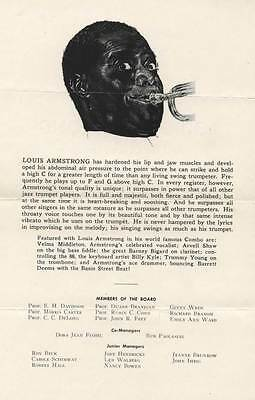 University of Illinois 1955 Flyer for Louis Armstrong