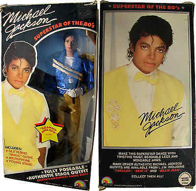 Michael Jackson Poupée Figure GRAMMY Outfit Doll with Box Puppe TOY USA 1984
