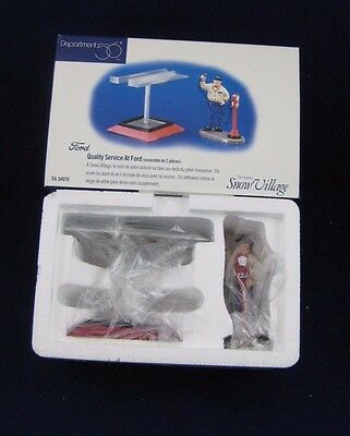 "Dept 56 Snow Village Accessory ""QUALITY SERVICE AT FORD""#54970 NEW-Never out Box"