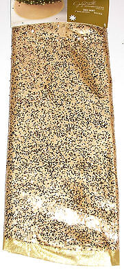 Christmas Tree Skirt 52 inches Gold, Glimmer & Glistens Jaclyn Smith, NWT