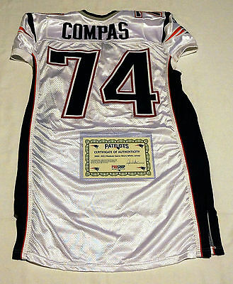 #74 Jonathan Compas Game Issued/Player Worn New England Patriots Jersey