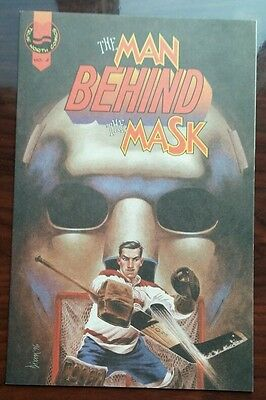 1993 The Story of Jacques Plante's Mask*Montreal Canadiens*Mint