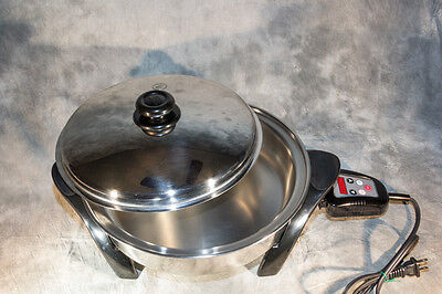 """Saladmaster 12"""" Versa Touch Electric Oil Core Skillet 316L Stainless SA012OCU"""