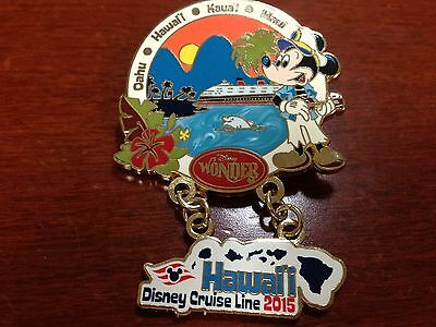 Disney Cruise line large PIN Hawaii 2015 Wonder DCL Limited Edition DVC