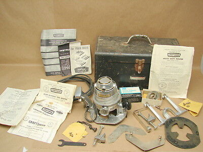 Vintage Craftsman Industrial 1 HP Router Tool Model 315.25031 Working w/ Extras