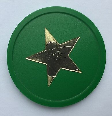 Plastic Token Foil Printed Gold Stars - Bag Of 100 - Party, Reward, Event,