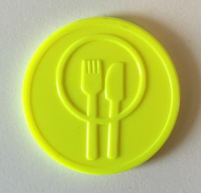 Plastic Meal Token - Embossed Both Sides - Bag Of 100 - Fete, Food, Stall Party