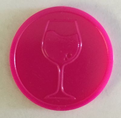 Plastic Wine Drink Token - Embossed Both Sides - Bag Of 100 Wedding Xmas Party