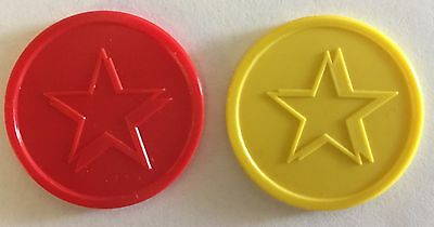 Plastic Star Tokens - Bag Of 100 -  Embossed Both Sides - Reward, School, Home
