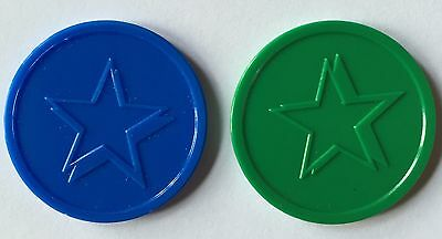 Plastic Tokens Star - Bag Of 100 -  Embossed Both Sides - Reward, School, Home