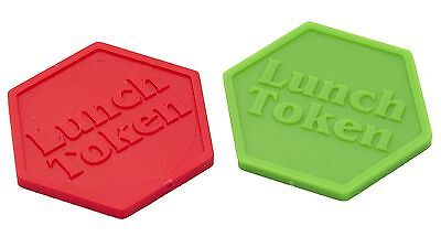 Lunch Tokens Plastic Embossed Both Sides - Bag Of 100 - Fete, Meal Token, School