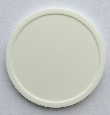 Plastic Token 35Mm - Plain White - Bag Of 100 - Multi Use Token