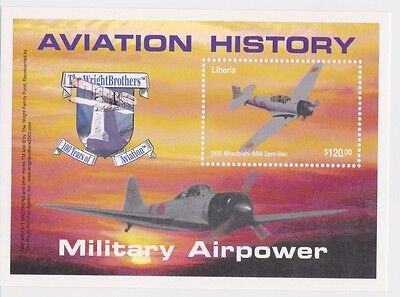 Liberia - Aviation, Military, Wright Brothers, 2003 - S/S II MNH
