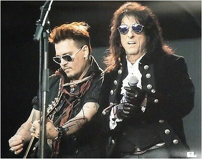 Johnny Depp Alice Cooper Dual Hand Signed Autographed 16x20 Photo GA 848114