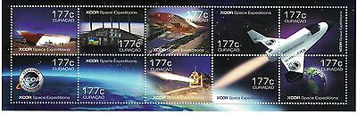 Curacao - Space Expeditions, 2014 - Sheetlet of 10 MNH