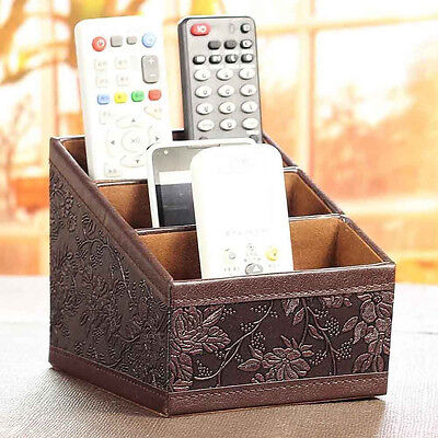 Storage box Remote control controller TV Guide mail CD organizer caddy holder AS
