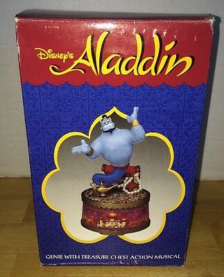 "Disney Aladdin Genie Treasure Box Chest Action Musical Plays ""Friend Like Me"""