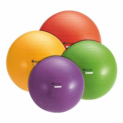 Body Sport Exercise Ball (Gym Quality, 55 or 65 cm) for Stability Yoga Pilates