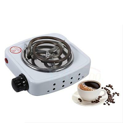 Durable White 15x15x5.5cm Electric Stove Milk Coffee Heater Hotplate Home Office
