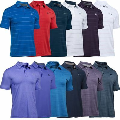 NEW FOR 2017 Under Armour Playoff Polo UA Mens Performance Golf Polo Shirt