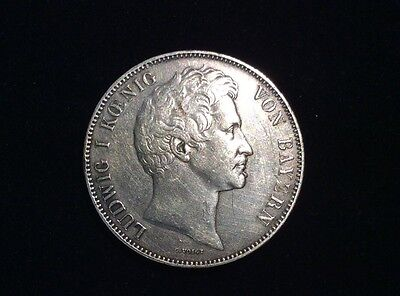 1839 Germany Bavaria 2 Thaler 3 1/2 Gulden Ludwig I Union German States Coin