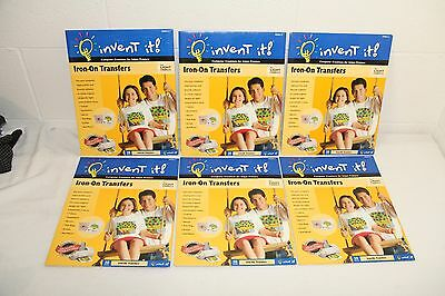 Lot of 60 INVENT IT Iron-On Fabric Transfers Ink Jet Printers ALL SEALED & NEW!