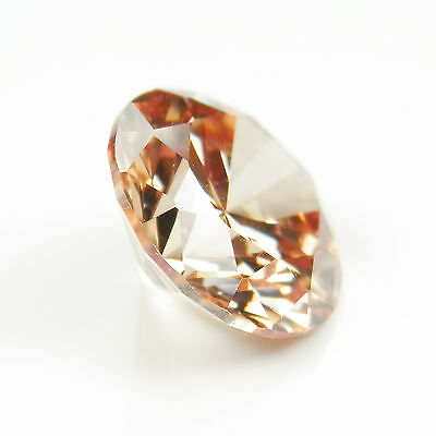 1.50 Ct ROUND CUT Champagne My Russian Diamond Lab Created Simulated Loose Stone
