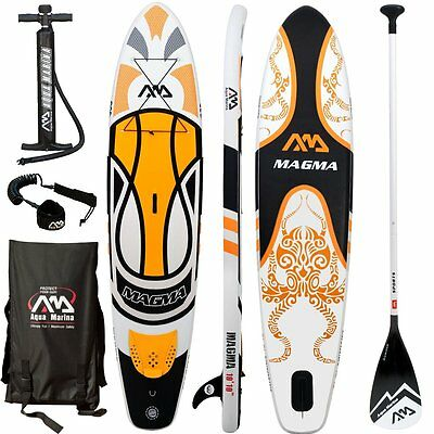 AQUA MARINA MAGMA SUP inflatable Stand Up Paddle Surfboard Paddle board