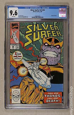 Silver Surfer (1987 2nd Series) #34 CGC 9.6 (0296225010)