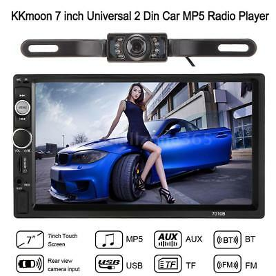 "Double 2 Din 7"" HD Car Radio MP5 MP3 Player Bluetooth Stereo+Backup with Camera"