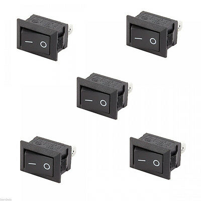 (On)Off(On) Momentary Large Black Rectangle Rocker Switch 10*15mm