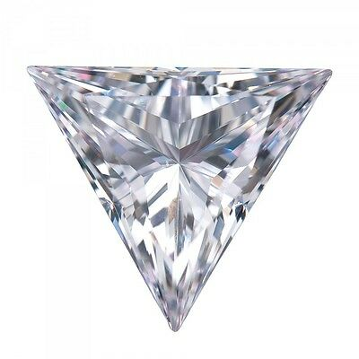 6mm 0.70ct TRIANGLE D Color My Russian Diamond Simulated Lab Created Loose Stone