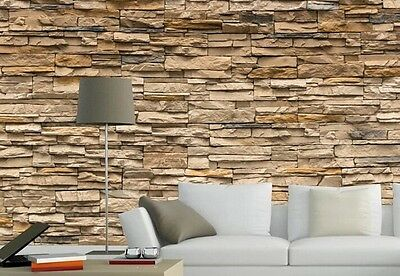 3D Brick Stone Style Wallpaper Bedroom Living Mural Roll Wall Background