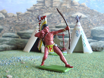 Vintage Crescent Wild West Indian with bow 1:32 painted