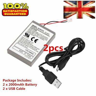 2X Upscale 2000mAh Rechargeable Battery Pack for Sony PS4 Controller Cable F&