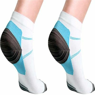 Foot Compression Sock Useful For Plantar Fasciitis Heel Spurs Pain Sport 2pc