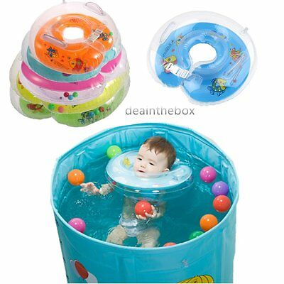 New Baby Aids Infant Swimming Neck Float Inflatable Tube Ring Safety  F&