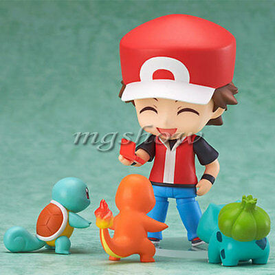 Pokemon Ash Ketchum Bulbasaur Charmander Squirtle 4'' Action Figures Anime Toys