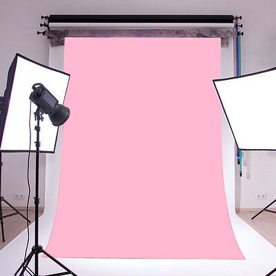 Baby Pink Thin Vinyl Photography Backdrop Background Studio Photo Props 5x7ft